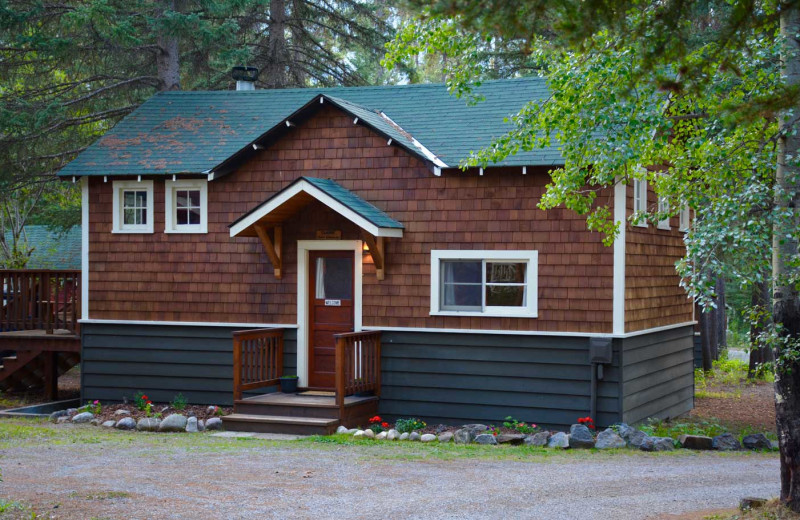Exterior view of Johnston Canyon Lodge & Bungalows.