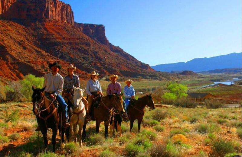 Horseback riding at Big Horn Lodge.