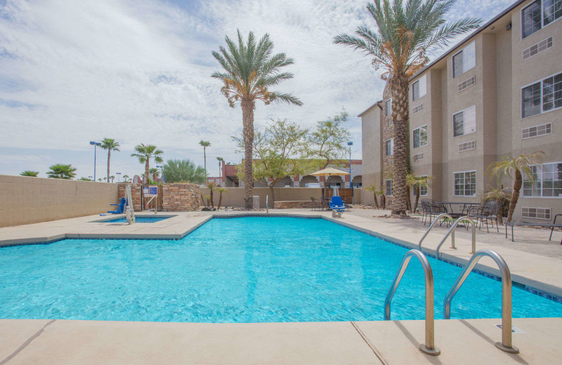Outdoor pool at Microtel Inn & Suites Yuma.