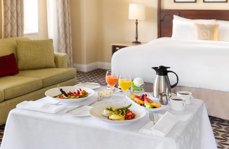 Room service at Fairmont Le Manoir Richelieu.