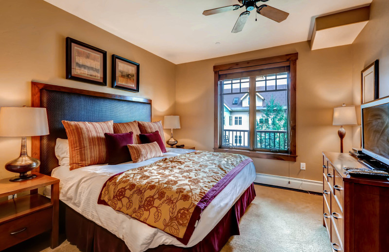 Rental bedroom at BlueSky Breckenridge.