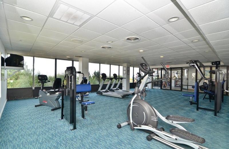 Fitness center at Best Western PLUS Oceanfront Virginia Beach.