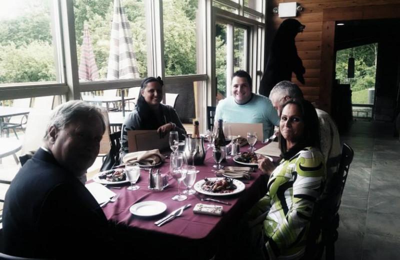 Dining at The Woods At Bear Creek Glamping Resort.