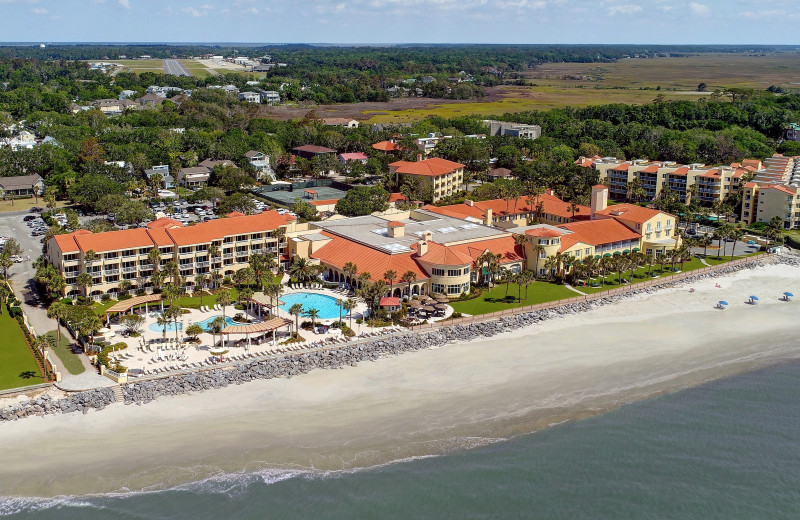 Aerial view of Georgia's beach resort