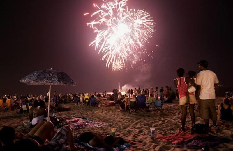 Holiday fireworks at Gold Key Resorts.