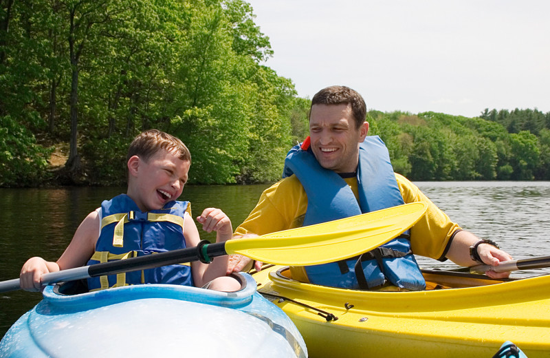 Kayaking at Deerstalker Resort.