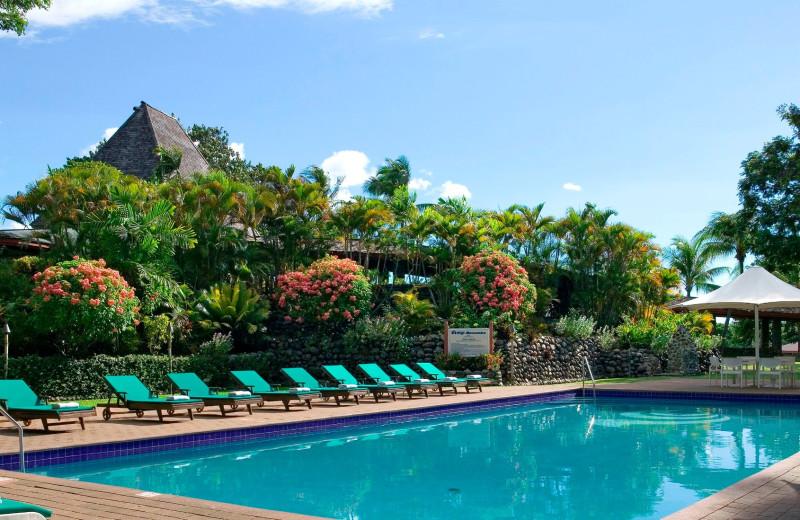Outdoor pool at Fiji Mocambo-Nadi.