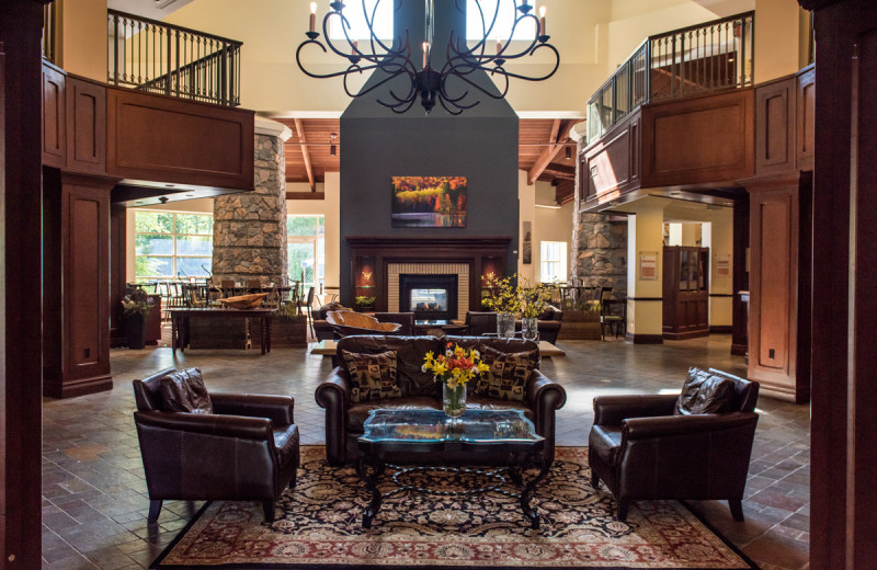 Lobby at Deerhurst Resort.
