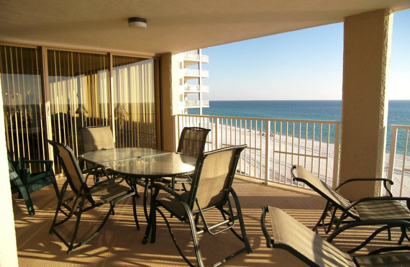 Vacation rental balcony at Dunes of Panama.