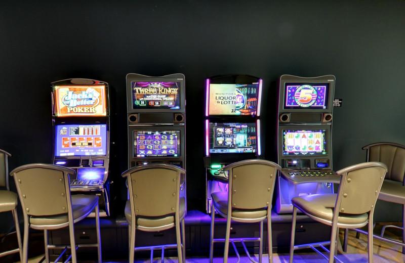 Slot machines at Buffalo Point Resort.