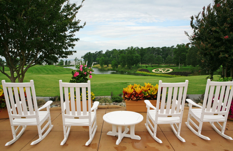 Patio at Kingsmill Resort.