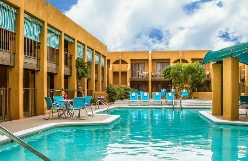 Outdoor pool at Quality Inn & Suites Airport North.