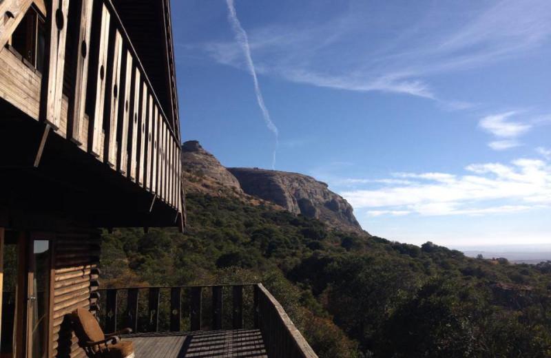 Deck view at Mount Everest Guest Farm.