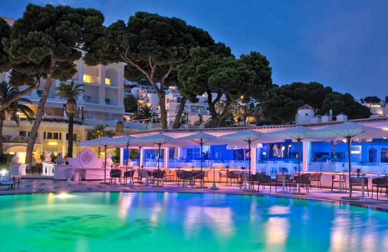 Outdoor pool at Grand Hotel Quisisana.