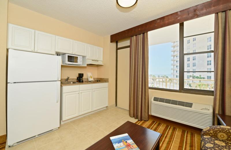 Guest kitchen at Daytona Beach Shores Hotel.