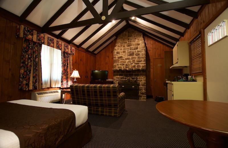 Cottage interior at Split Rock Resort & Golf Club.