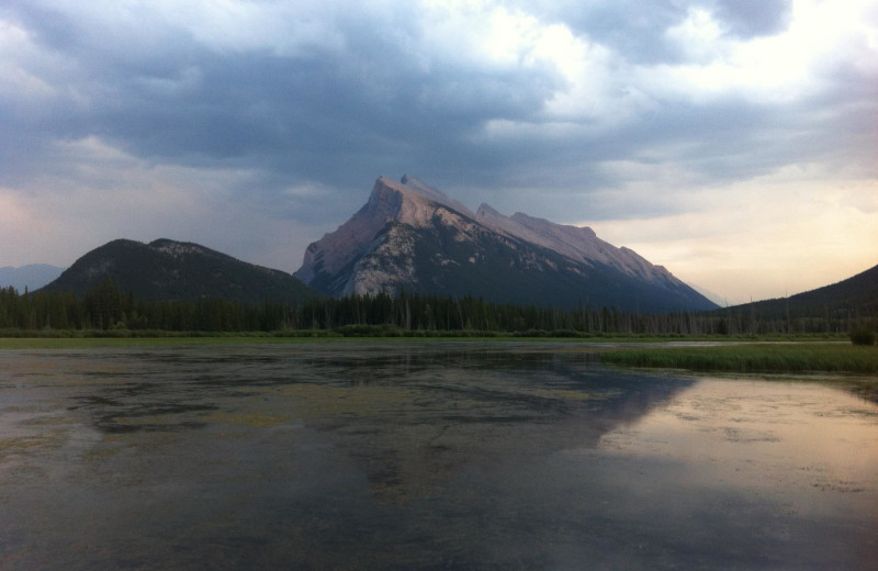 Scenic view at Banff Lodging Company.