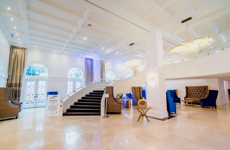 Lobby at The Alexander All Suite Oceanfront Resort.