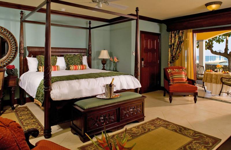 Guest room at Sandals Montego Bay.