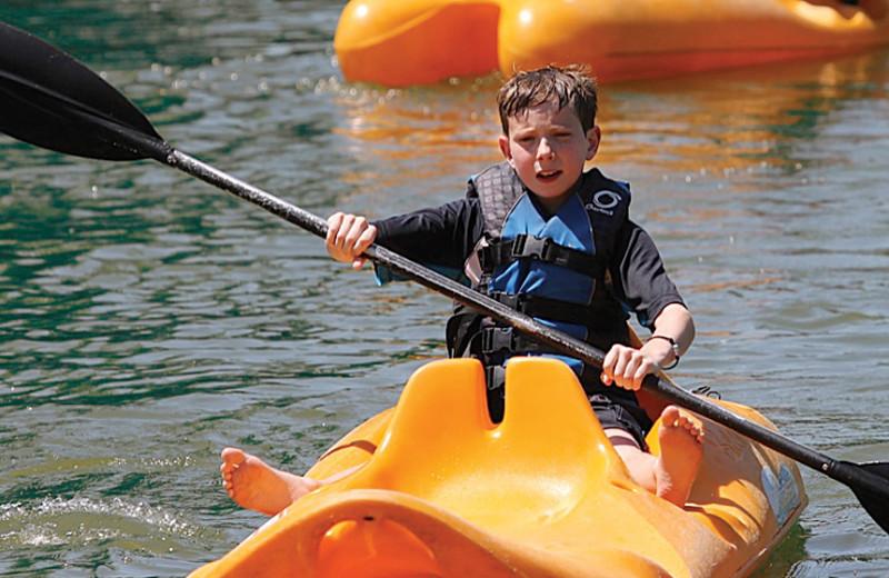Kayaking at Rocking Horse Ranch Resort.