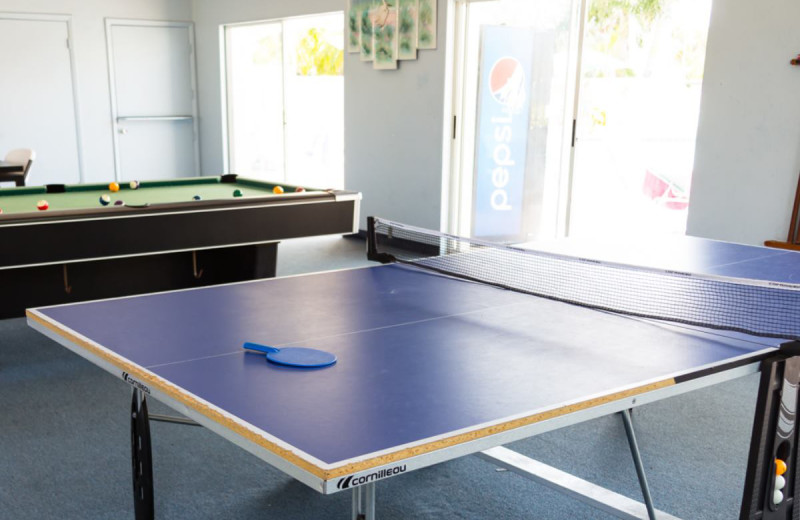 Ping pong at Island House Beach Resort.