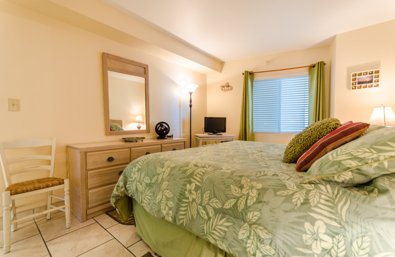 Rental bedroom at Perdido Skye Resort.