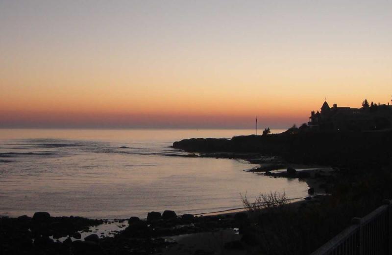 Sunset at Footbridge Beach Motel.