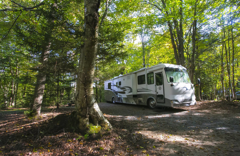 RV camp at Old Forge Camping Resort.