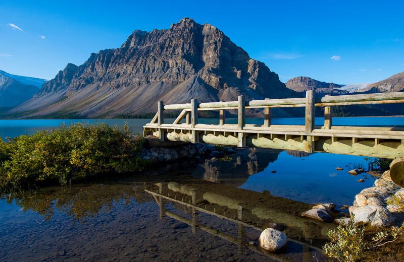 Lake view at Cariboos Lodge.