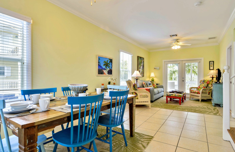 Rental dining area at Luxury Rentals by At Home in Key West.