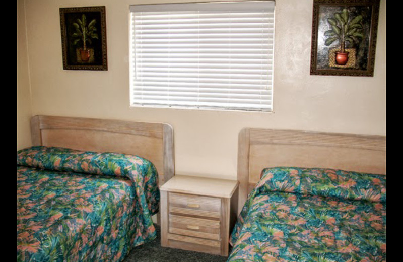 Guest room at Paradise Oceanfront Resort.