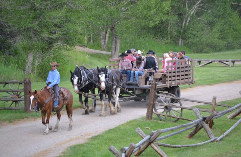 Hay ride at Vee Bar Guest Ranch.
