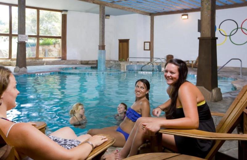 Indoor pool at Golden Arrow Lakeside Resort.