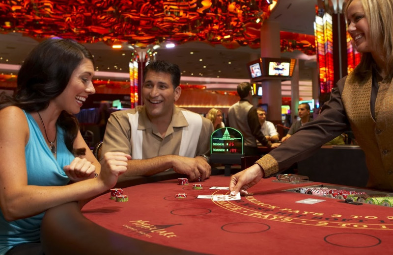 Gambling at Mystic Lake Casino Hotel.