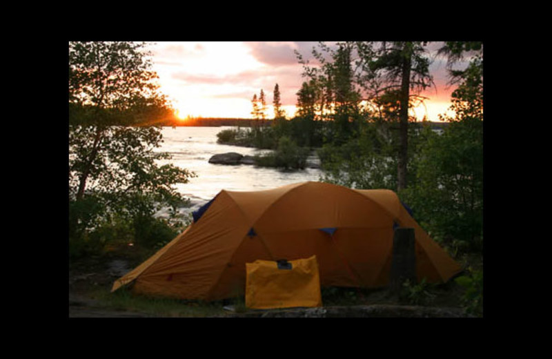 Camping at Churchill River Canoe Outfitters.