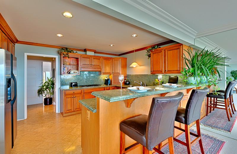 Rental kitchen at Seabreeze Vacation Rentals, LLC-Orange County.