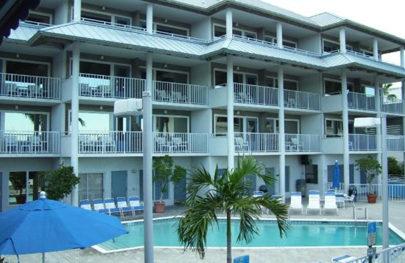 Outdoor pool at Pirate's Cove Resort & Marina.