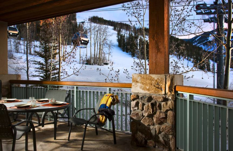 Porch view at East West Resorts Beaver Creek.