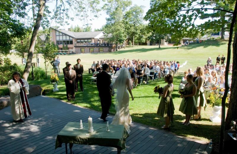 Wedding ceremony at Devils Head Resort & Convention Center.