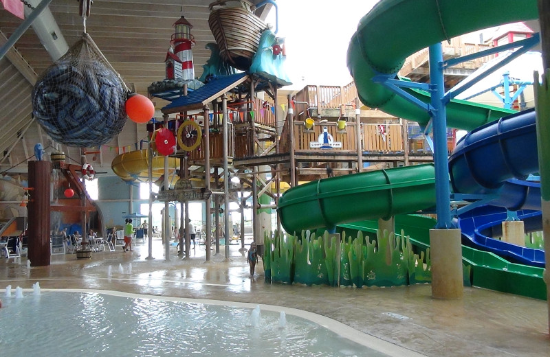 Indoor waterpark at Blue Harbor Resort & Spa.
