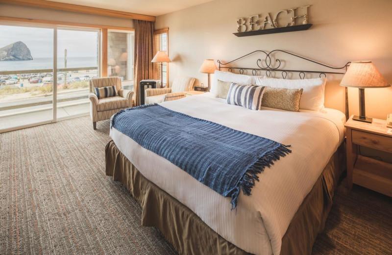 Guest room at Inn at Cape Kiwanda.