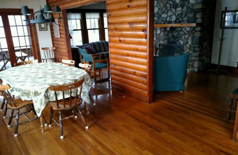 Cabin interior at Lykins Pinehurst Resort.