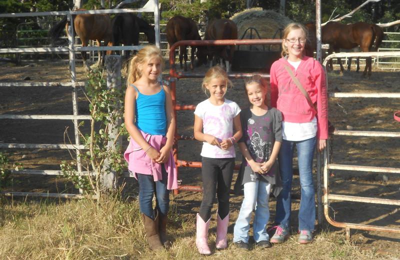Family at Vee Bar Guest Ranch.