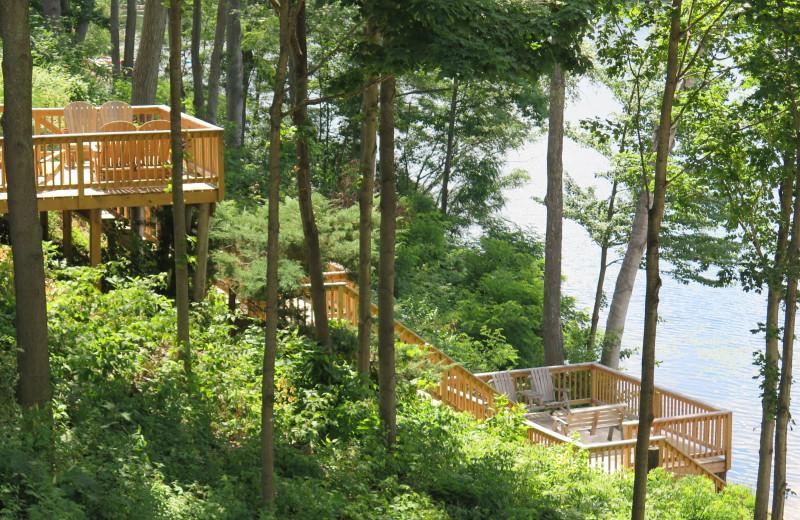 Decks at Sleeping Bear Resort.
