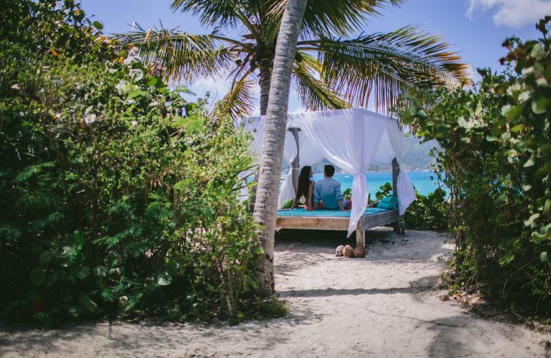 Beach at Guana Island Resort.