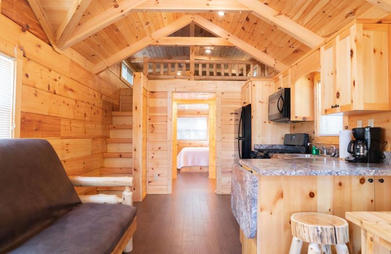 Guest cabin at Yogi Bear's Camp Golden Valley.