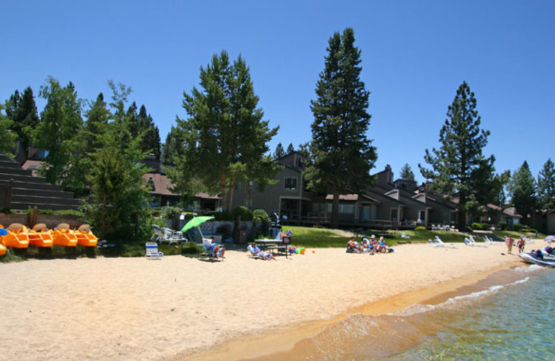 Beach view at Aston Lakeland Village.