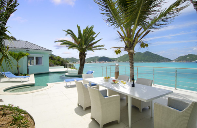 Villa patio at Island Properties Luxury Rentals.