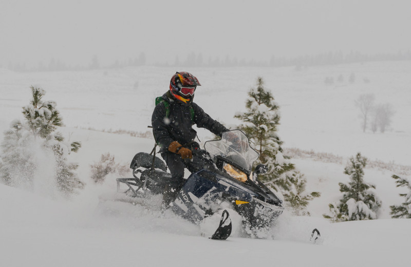 Snowmobiling at The Green O.