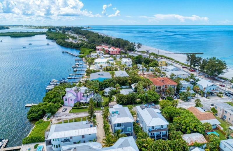 Aerial view of Anna Maria Island Beach Rentals, Inc.